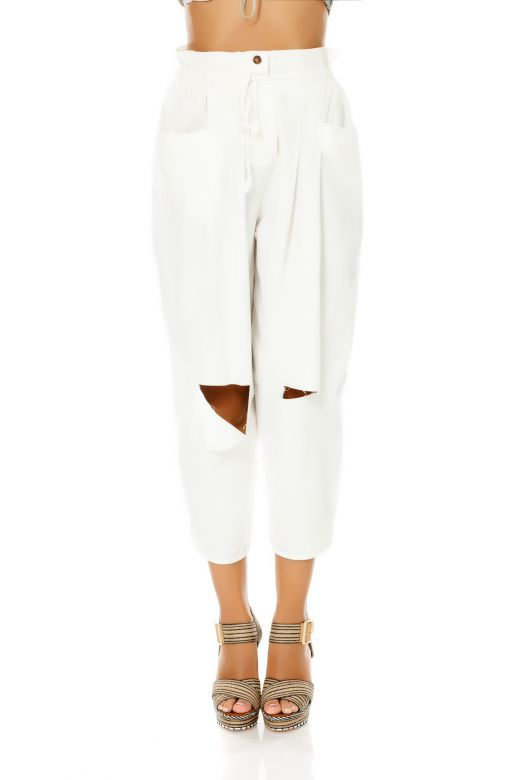 Pantaloni Merlins White Bogas