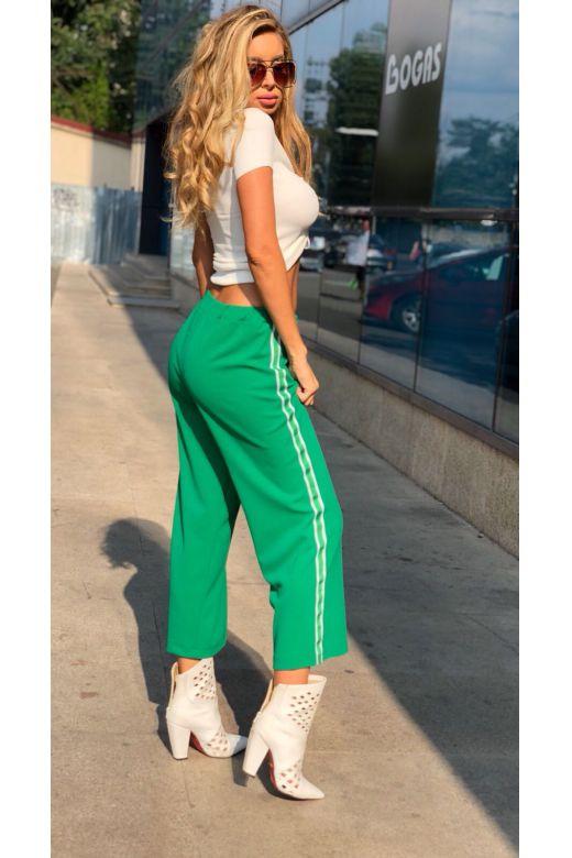 Pantaloni Fuentes Green Bogas