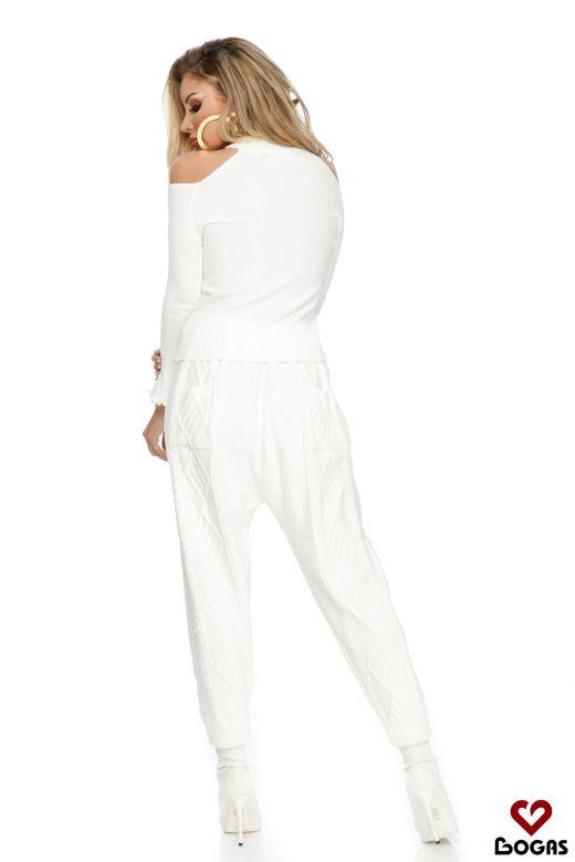 Pantaloni Caballeros White Bogas