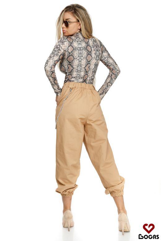 Pantaloni Sanluis Beige Bogas