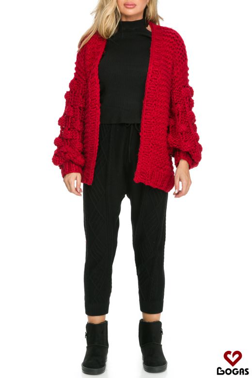Cardigan Franca Red Bogas