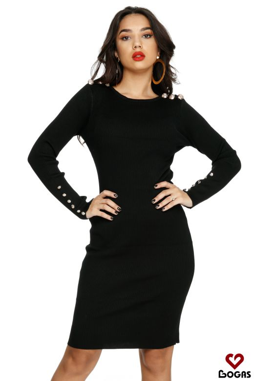 Rochie de Zi Hermosa Black Bogas
