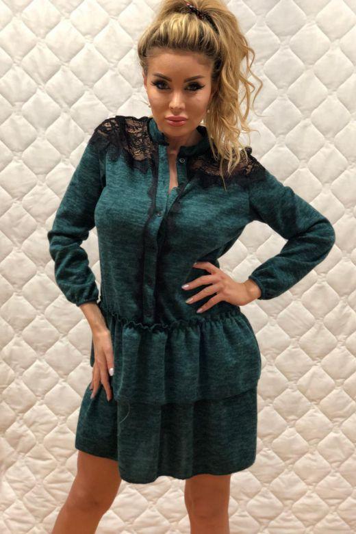 Rochie de Zi LLoret Turquoise Bogas