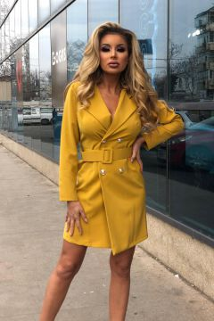 Rochie de Seara Effet Yellow Bogas