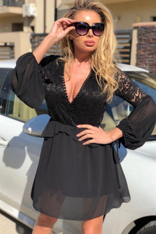 Rochie de Seara Rallis Black Bogas