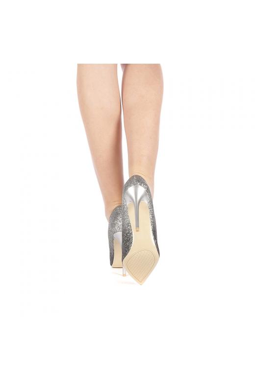 Pantofi dama Fiolo argintii