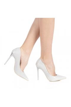 Pantofi dama Somerda argintii