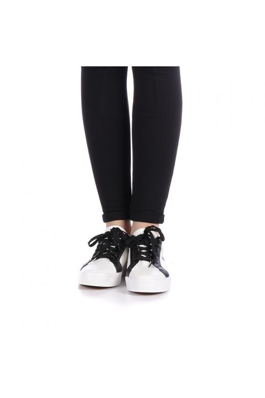 Pantofi sport dama Ribolia albi cu negru