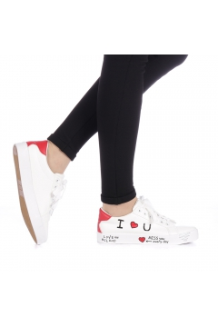 Pantofi sport dama Zediani albi