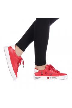 Pantofi sport dama Zediani rosii