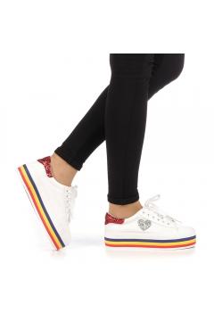 Pantofi sport dama Lejene albi
