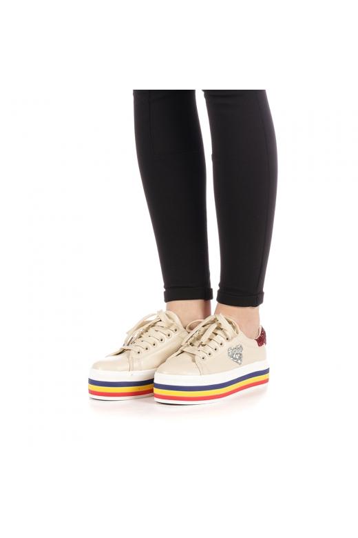 Pantofi sport dama Lejene bej