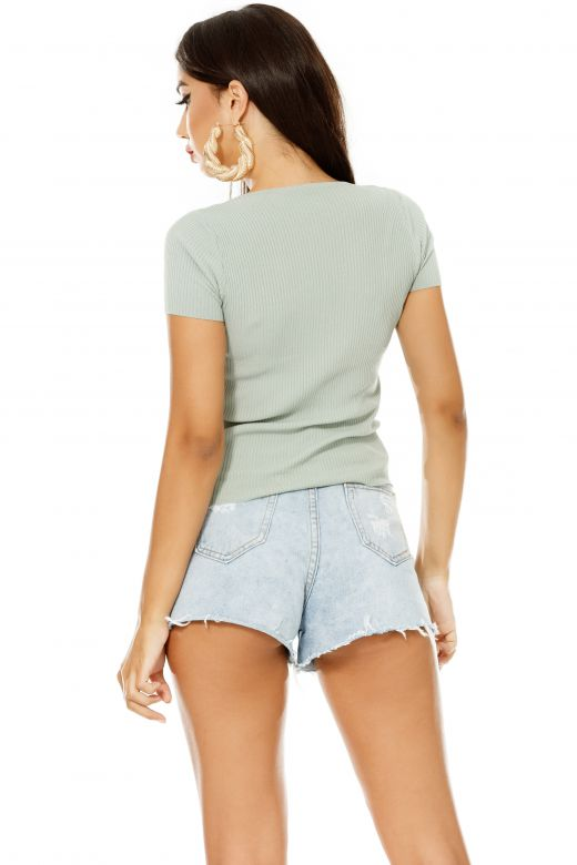 Tricou Thry Turquoise Bogas