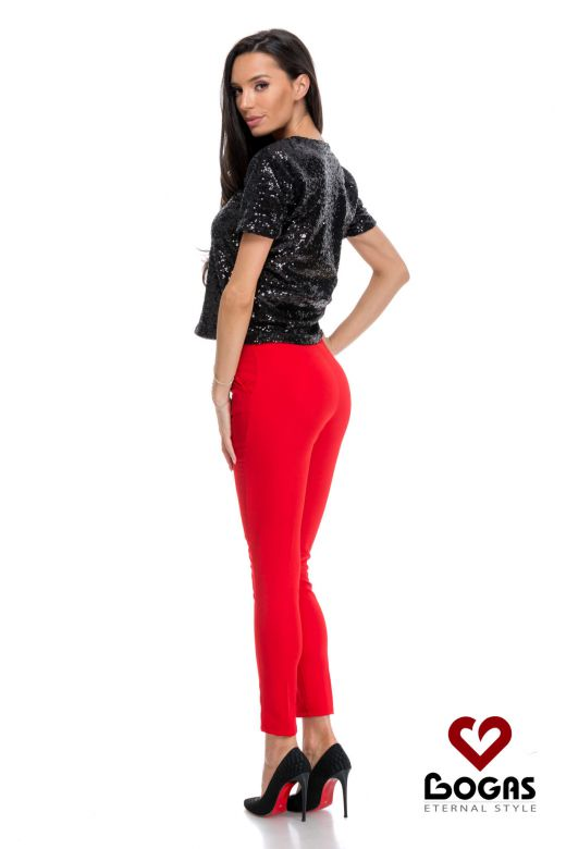 Pantaloni Chaby Red Bogas