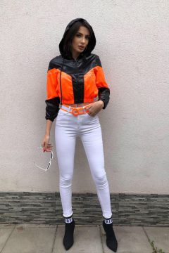 Blugi Consy White Orange Bogas