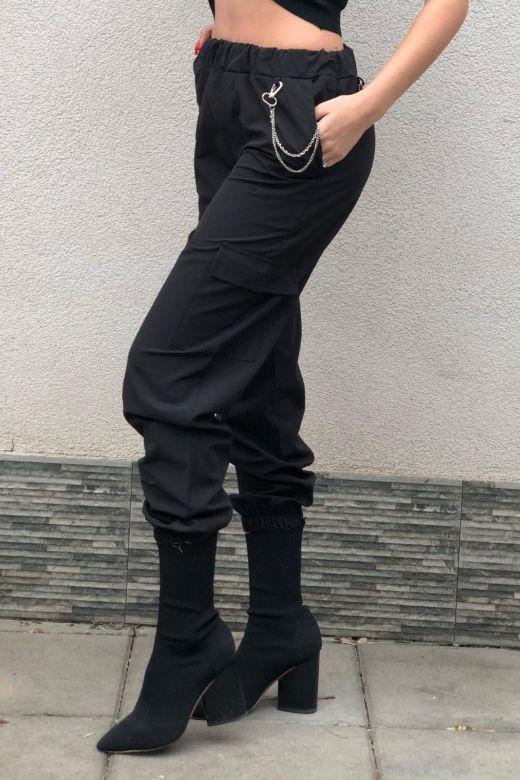 Pantaloni Kellp Black Bogas