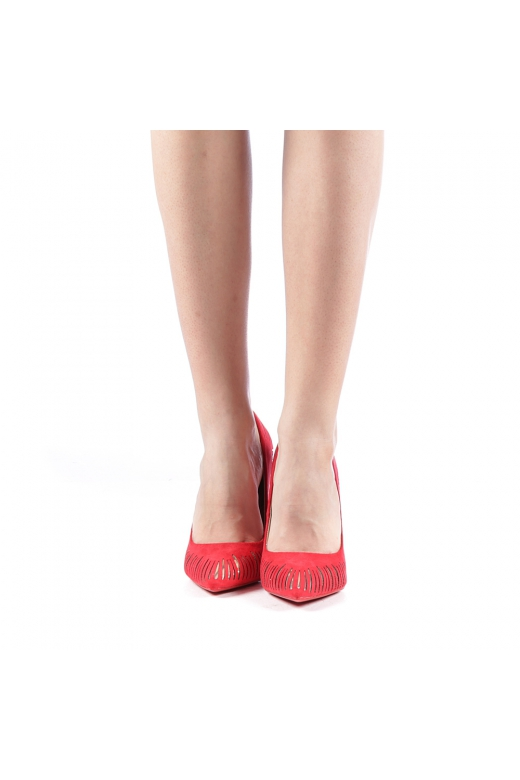 Pantofi dama Dena rosii