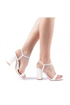 Sandale dama Branca albe