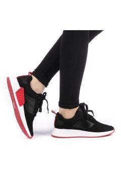 Pantofi sport dama Drasma negri cu rosu