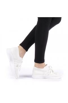 Pantofi sport dama Hajala albi