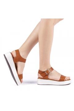 Sandale dama Slamia camel