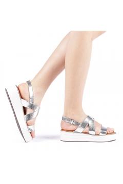 Sandale dama Sariba argintii