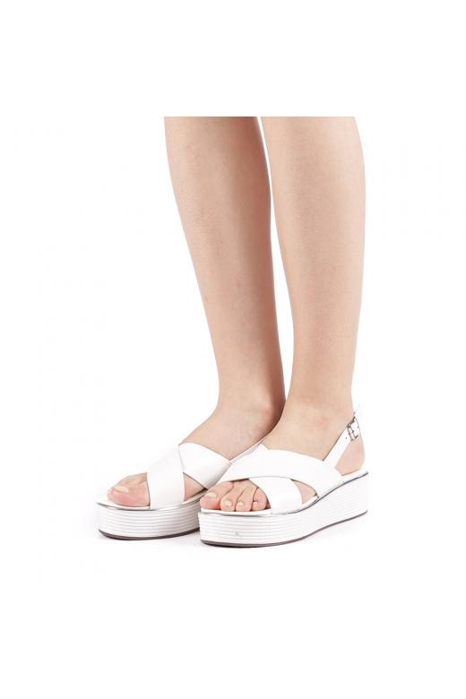 Sandale dama Favilla albe
