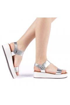 Sandale dama Azdira argintii