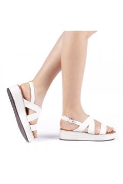 Sandale dama Sariba albe