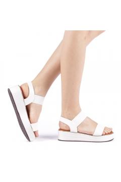 Sandale dama Azdira albe