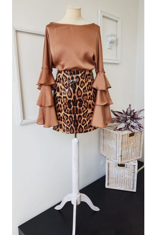 Bluza Rolmy Brown Bogas