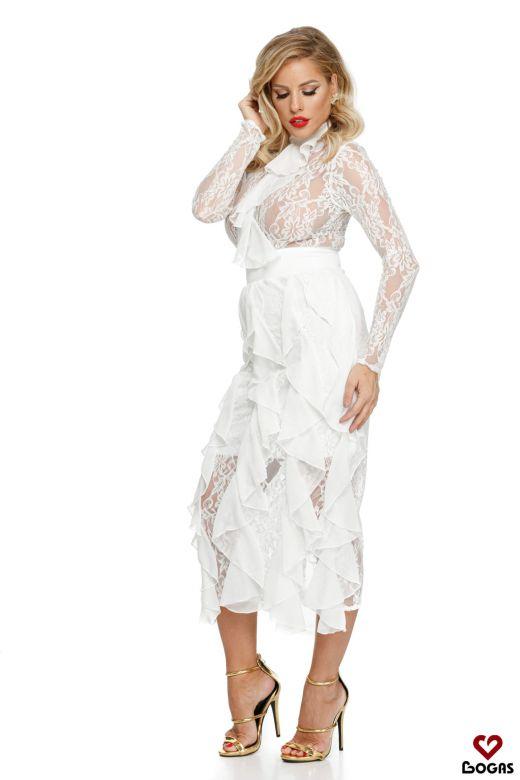 Rochie de Seara Nonntys White Bogas