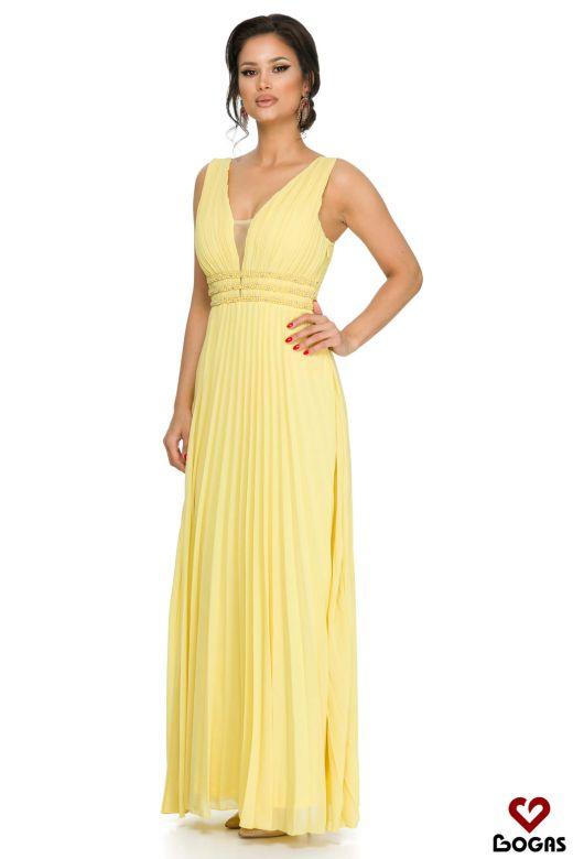 Rochie de Seara Crisona Yellow Bogas