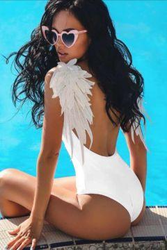 Costum de Baie Flory White Bogas