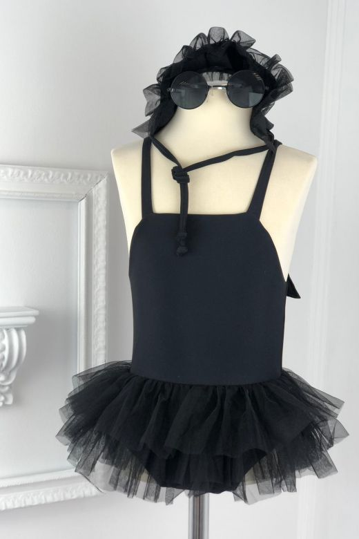 Costum de Baie Copii Fluffy Black Bogas