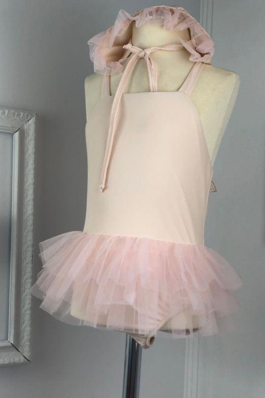 Costum de Baie Copii Fluffy Pink Bogas