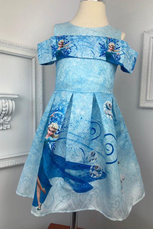 Rochie Copii Frozen Bleu Bogas