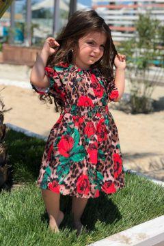 Rochie Copii Ymana Brown Red Green Bogas