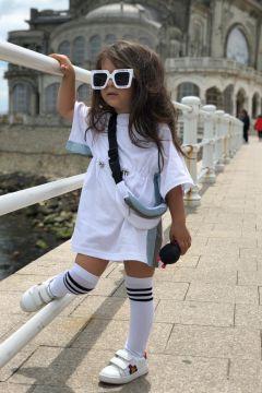 Rochie cu Geanta Copii Setta White Bogas