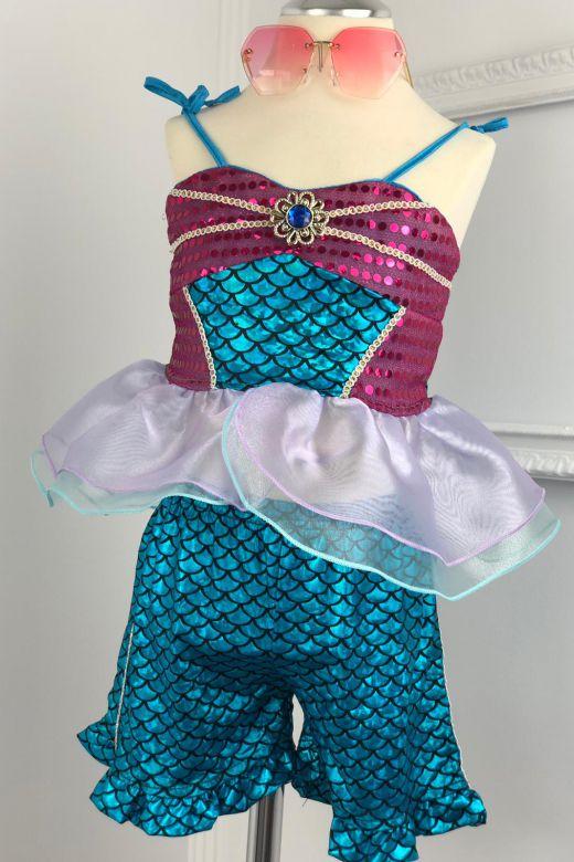 Costum Sirena Copii Serena Blue Bogas
