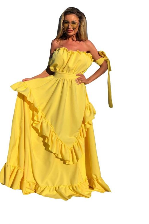 Rochie de Seara Kylenia Yellow Bogas