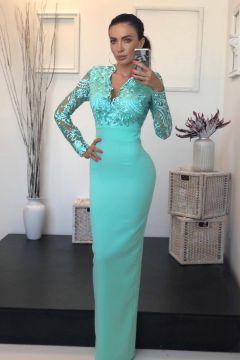 Rochie de Seara Eleganty Turquoise Bogas