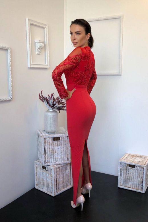 Rochie de Seara Eleganty Red Bogas