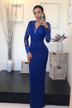 Rochie de Seara Eleganty Albastru Bogas