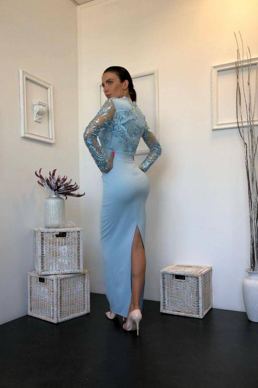 Rochie de Seara Eleganty Bleu Bogas