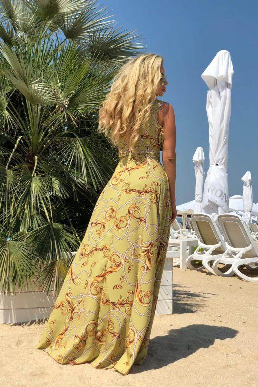 Rochie de Seara Ornaty Yellow Bogas
