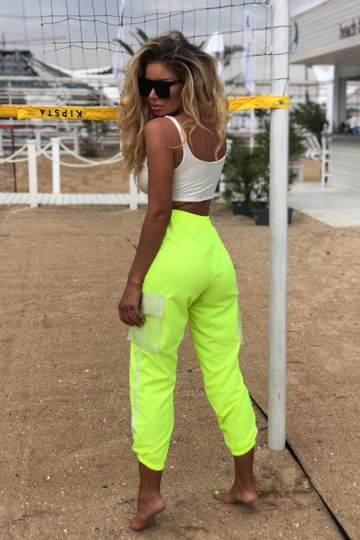 Pantaloni Clandons Yellow Bogas