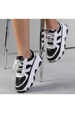 Pantofi sport dama Philippa alb cu negru