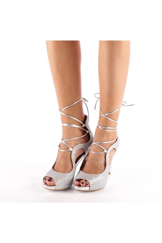 Sandale dama Sina argintii