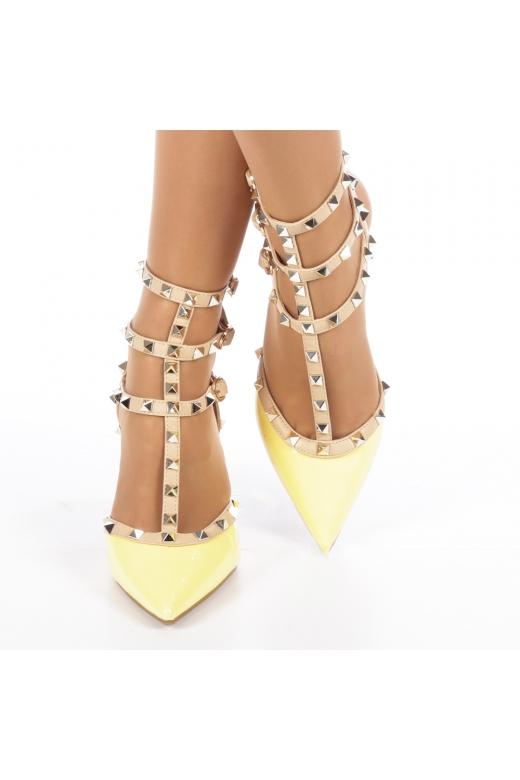 Pantofi dama Sandy galbeni